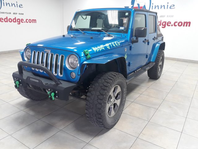 Tires For Jeep Wrangler >> Pre Owned 2016 Jeep Wrangler Unlimited Sahara 4x4 W Nav System Custom Tires With Navigation 4wd