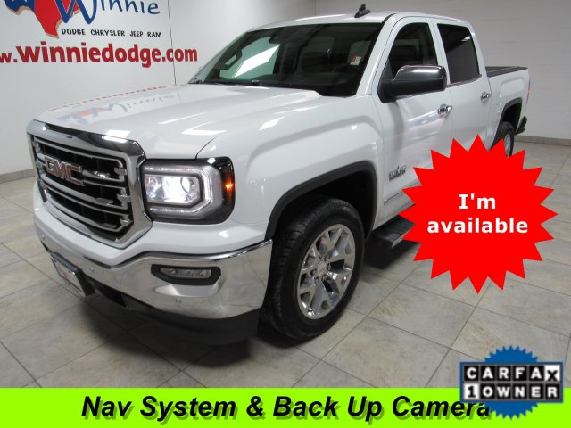 Pre-Owned 2017 GMC Sierra 1500 SLT Leather Interior w/ Nav System & Sunroof
