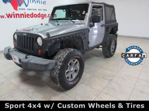 Pre-Owned 2014 Jeep Wrangler Sport 4x4 w/ Custom Wheels & Tires