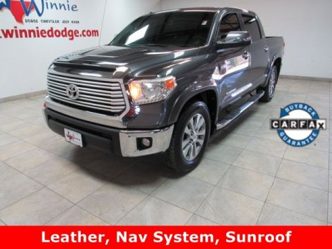 Pre-Owned 2015 Toyota Tundra 2WD Truck Limited CrewMax Leather SR5 W/ Nav System & Back Up Camera